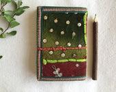 Junk journal, Writing Diary, Sari Journal, Fabric Diary, Scrap journal, 7x5 inches, Blank Book, Handmade Paper, India diary, Stash Album