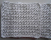 Reserved for Idh069 White Crochet Cotton Face Cloths- Wash Cloths Set of Six