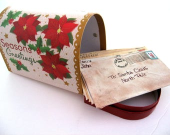Personalized Letter to Santa Bowl Filler, Primitive Christmas Ornies