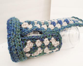 NEW ITEM Dog Sweater, Small Dog Clothing, Blue and Cream