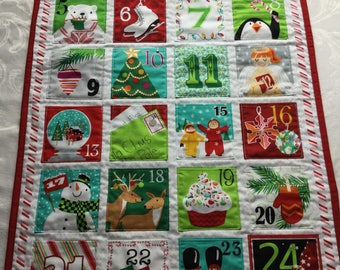 Christmas Countdown Calendar, Christmas Advent Calendar, Oversized Pocket Advent Calendar, Whimsicle Advent Calendar