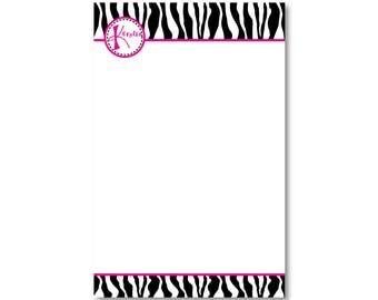 Zebra Print Notepaper