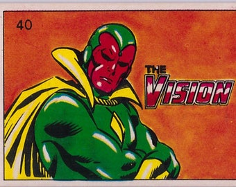 Rare 1980 Marvel Super Heroes The Vision 40 Sticker