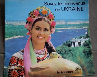 "Vintage French Booklet ""Soyez les bienvenus en UKRAINE"" (Welcome to Ukraine)"