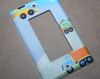 Construction Truck Boys Nursery Bedroom Single Light Switch Cover LS0067