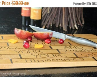 Hippocrates Quote Chopping Board