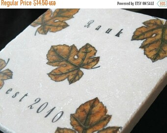 XMASINJULYSale Personalized Leaves Trivet - Fall Kitchen Home Decor - Thanksgiving Table