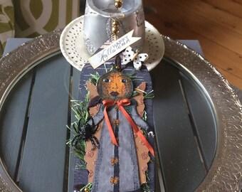 Handmade Halloween Tag - Halloween Ornament - Halloween Pumpkin Decoration