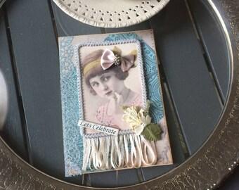 Handmade Birthday Card - Celebrate Card - Celebration Card