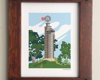 Romeo and Juliet Windmill, Taliesin, Frank Lloyd Wright designed, 8x10 print