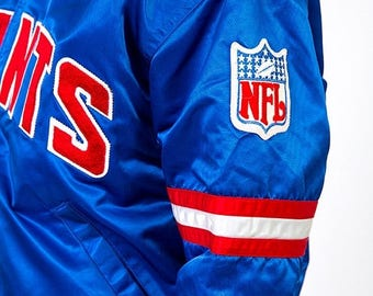 40% SUMMER SALE The Vintage Blue New York Giants Football Authentic Proline by Starter Jacket