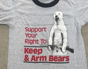 40% OFF The Vintage Heather Gray Support Your Right to Keep and Arm Polar Bears Tee Tshirt