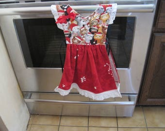 Cats Christmas Kitchen Towel