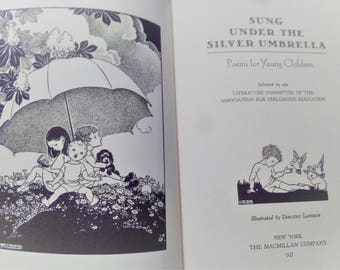 Sung Under The Silver Umbrella Poems for Young Children 1937