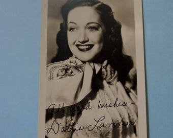 Dorothy Lamour, Movie Star, Vintage Signed Original Photo, Autographed Dottie Lamour, 1940's Hollywood Movie Star, REDuCED