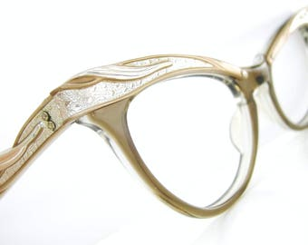 Vintage 50's Cat Eye Glasses Eyeglasses or Sunglasses Combination Frame