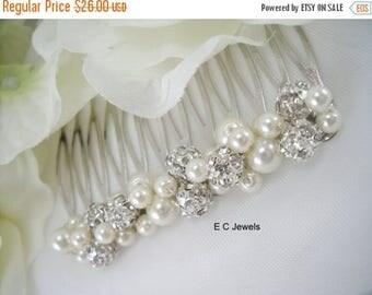 Summer Sale Elegance, Pearl and Rhinestone Comb
