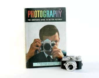 Vintage Photography Paperback Book Golden Handbook 1964 Photographer Camera Collector Gift