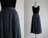 blue roses midi skirt