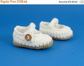 40% OFF SALE Instant digital file pdf download knitting pattern Baby Simple Lacey Sandals  pdf download knitting pattern