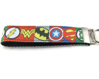 Justice League Keychain, Key fob, Wristlet