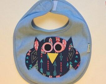 Chubby Fabric Iron On Owl Applique