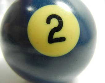 Pool Ball Wine Stopper / Blue Number 2 / Two Ball / Billiards / Man Cave / Pool or Wine enthusiast gift / upcycle / OOAK / buddy gift