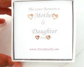 Mother Daughter Rose Gold Heart Studs Set. 2 Pairs 14k Rose Gold Filled Heart Studs Set in Medium and Small.