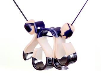 Statement Necklace Ceramic Jewelry - boho jewelry, handmade necklace, sculptured necklace, fashion jewelry, unique jewelry, tribal jewelry