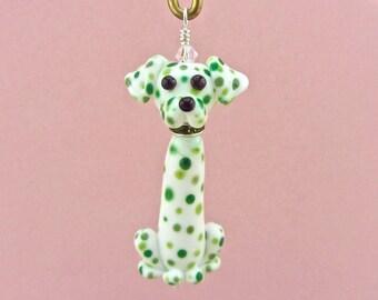 Dalmatian Dog Ornament  SALE 25% OFF - Handmade Lampwork Creation SRA
