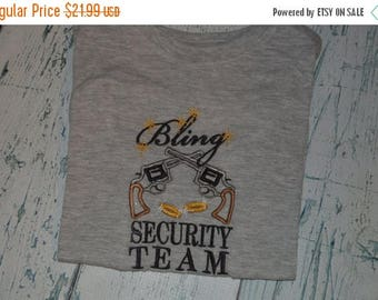 ON SALE Ring Bearer Bling Security Team, Ring Bearer  Embroidered Shirt Wedding Tee