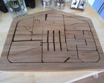 Wooden Hand Made Nativity Scene Manger Puzzle