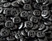 Shop Closing - Discount codes in Shop Announcement - Black Buttons - 5/8 inch - YOU PICK Set 50 thru 500