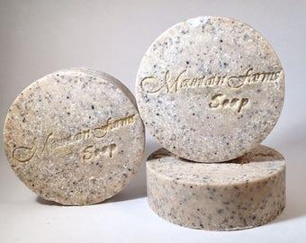 Java Scrub Spa Bar-Handmade-Cold Process-Salt Bar-Kitchen-Soap-Gardener's Soap-Luxurious-Unisex Soap-Gift-Abbotsford-BC-Canada