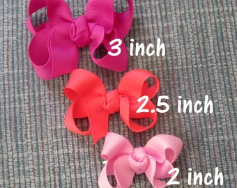 Baby Hair Bows, Girls small bows, Lot Set of 22 bows, Dainty hairbows, Twisted Bows, Little bows, Clippie, Newborn Baby bows, Toddler bows