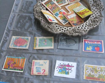 Cracker Jack Prizes Lot of 20 Include Slide Cards Fun Book Laughs Riddles As Is Slates Mini Post Cards Stickers and Other Flat Fun C Detail