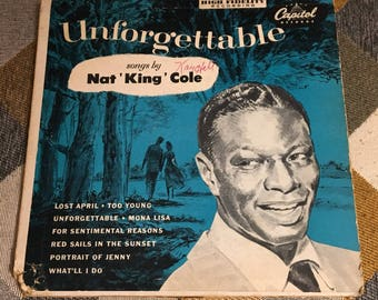 Vintage Nat King Cole Unforgettable Album Capitol Records