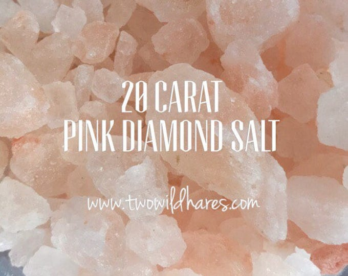 20 Carat PINK DIAMOND Sea Salt, Coarse Grain, 3 or 6 lbs, Remineralize!