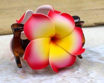 Flower Hair Hair Accessory,  Choose The Color, Hair Claw, Foam Flower, Plumeria