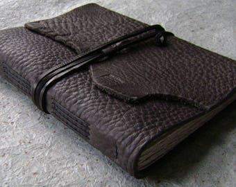 """Rugged leather journal, 5.5""""x 7.5"""",  160 pages, old world journal, leather sketchbook, travel journal  (2610)"""