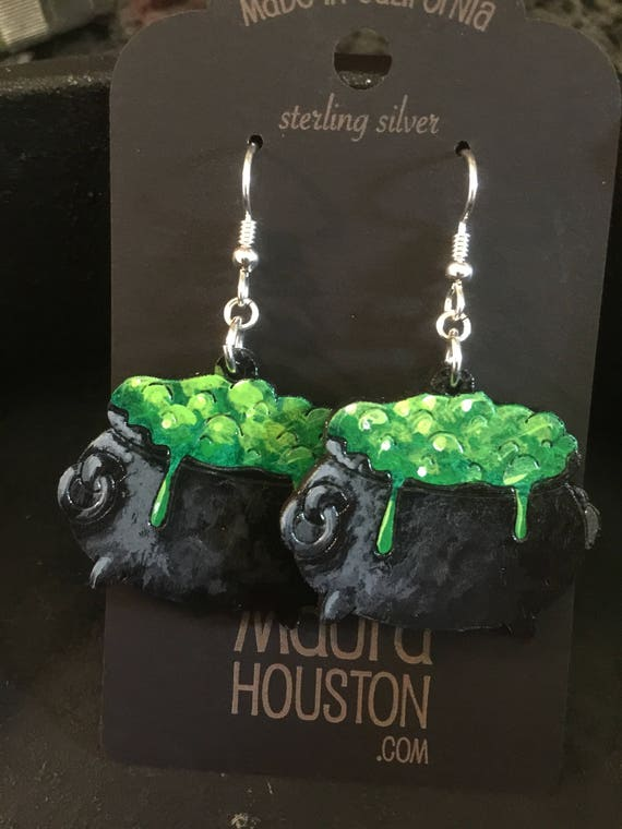 Bubbling cauldron earrings