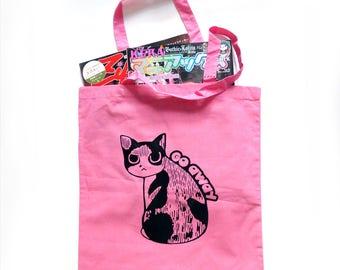 Go Away Cat Tote Bag