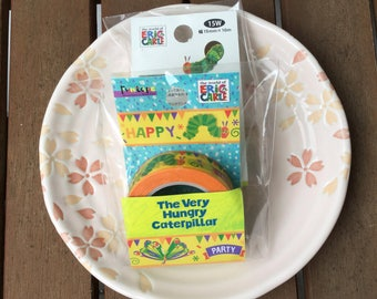 Very Hungry Caterpillar Tape -Party - OFFICIAL GOODS Funtape Masking Tape 15mm x 10m