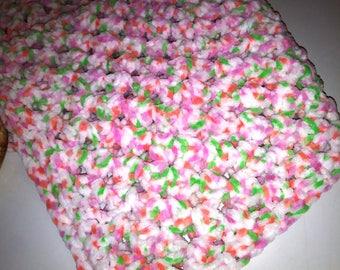 Baby Blanket, Crochet Blanket, Infant Bedding, Baby Shower, Crochet Baby Blanket, Car Seat Cover, Minky