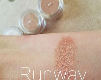 RUNWAY - Berry + Rose Gold All over Face Color - Bronze, Blush, Eye - Mineral Mica Make up - Gift for her -5ml sifter jar - cruelty free