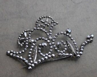 Large Victorian Cut Steel Sash Pin