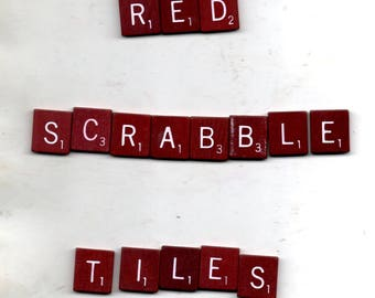 Red Scrabble Tiles for Crafting Supplies 100 Wooden Tiles 0.75 x 0.75 x 0.125 Inches