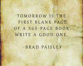 """Print """"Tomorrow Is"""" in Parchment paper Printable Wall Art"""