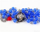 RESERVED for ForceSierra - Sephiroth Necklace, Blue Necklace, Fantasy Necklace, Cameo Jewelry, Gamer Jewelry, Fantasy Jewelry, FFVII