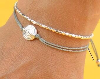 Spiral charm bracelet